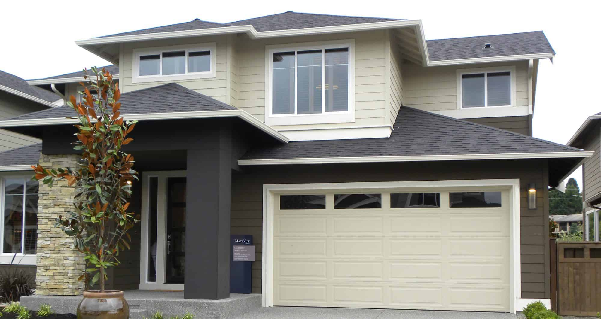 Insulated steel garage doors by northwest door cressy for Ranch house garage doors