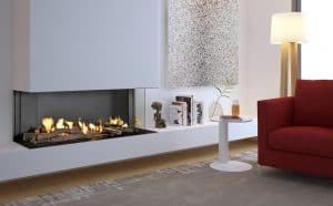 Flare-double-corner-gas-fireplace-linea